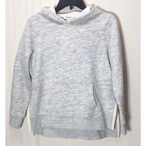 Madewell marled grey side split hoodie size M
